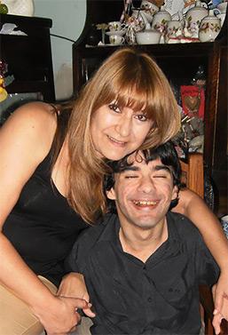 Fotografía de Miriam y Sebastián, dos amigos de nuestra asociación